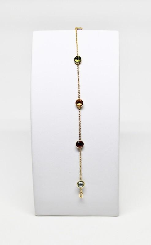 Bracelet en or jaune 18k, longueur 18cm