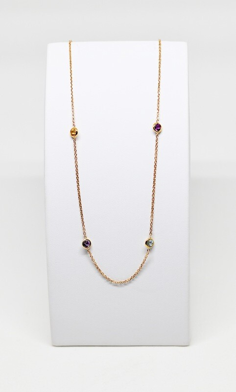 Collier en or rose 18k, longueur 42cm