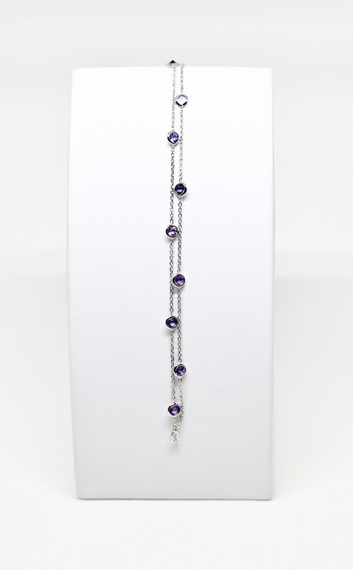 Bracelet en or blanc 18k, longueur 19 cm