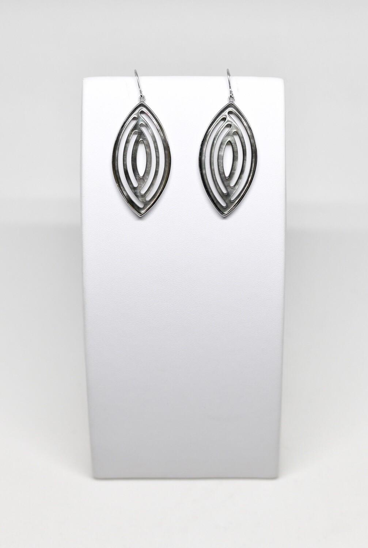 Boucles d'oreilles en argent 925 rhodié
