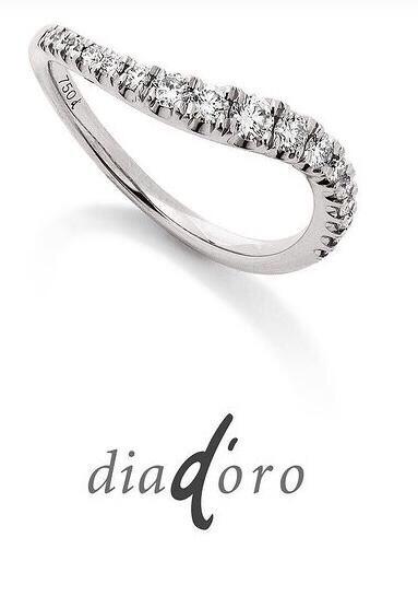 Bague diamants or blanc 18k 17 diamants 0,38ct H-SI