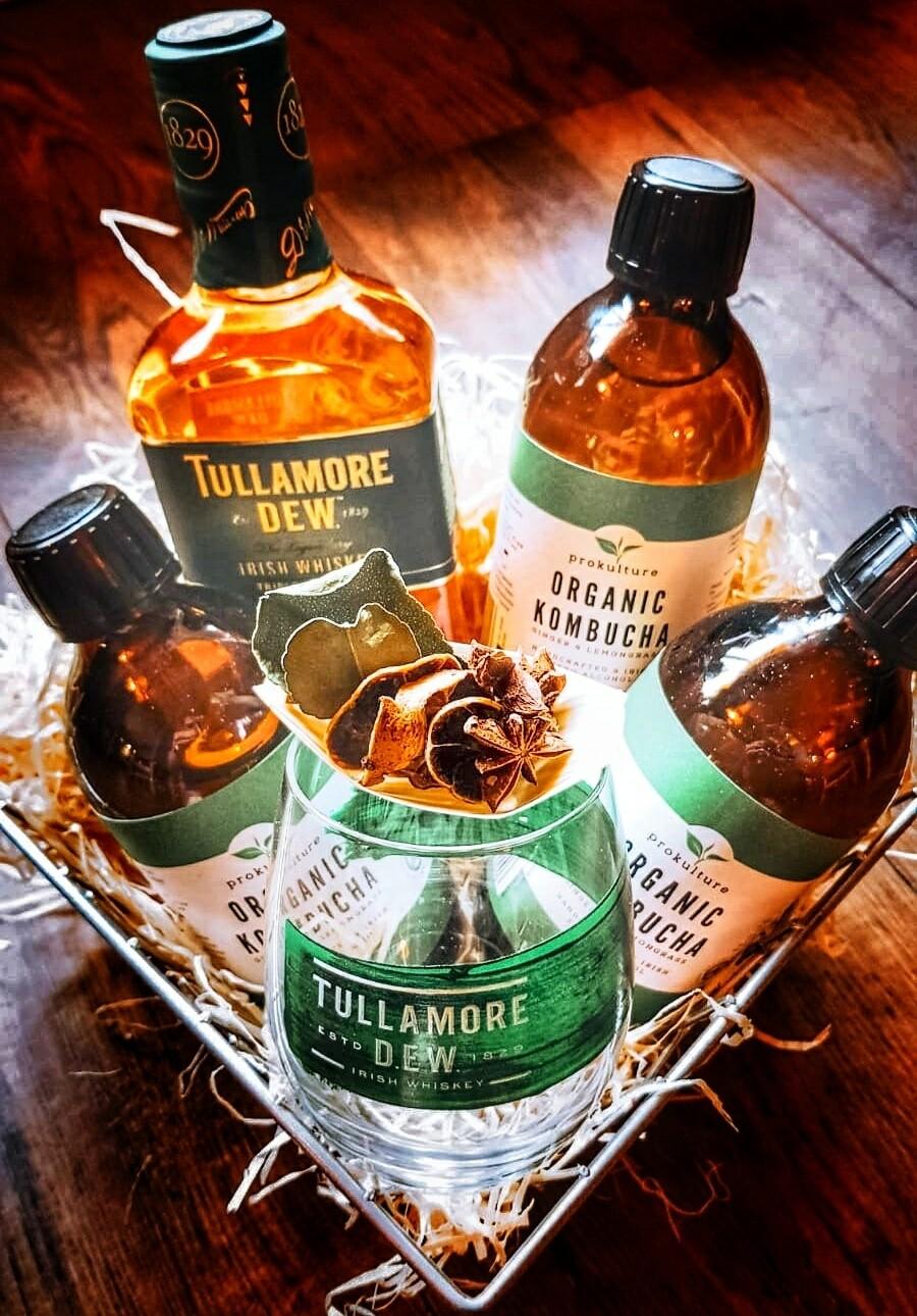 Tullamore Dew & Organic Kombucha Hamper