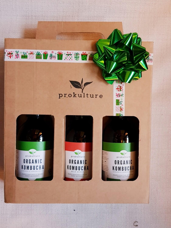 ProKulture Organic Kombucha (3 bottles) Gift Pack