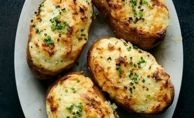 Veggie Potato Skins (No Bacon)