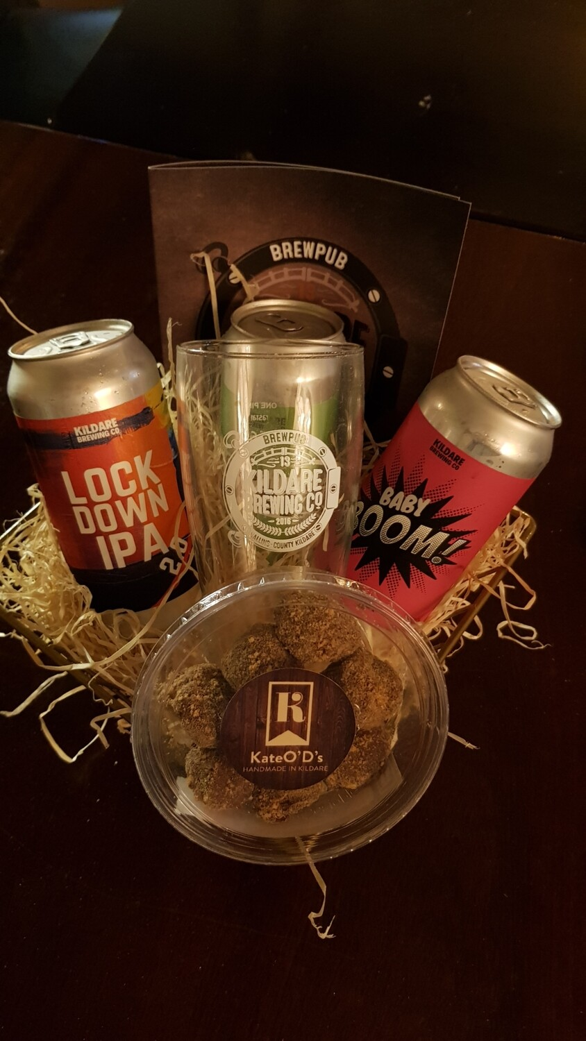 Beer, Pint Glass & Truffle Hamper