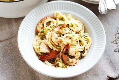 Garlic & Chilli King Prawn Pasta