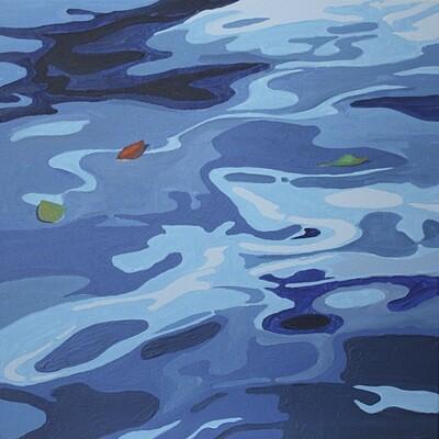 Wasser I / blau