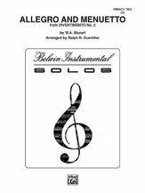 Allegro and Menuetto [FT4014] flute trio