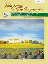 Folk Songs for Solo Singers, Vol. 1 - medium high (CD included)