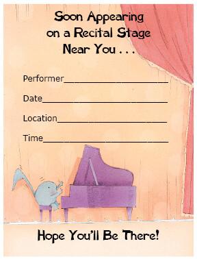 Recital Invitations - Soon Appearing