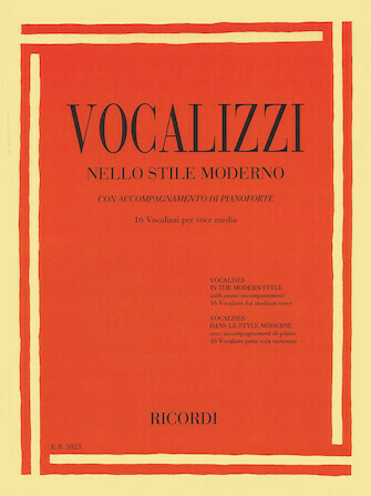 Vocalises in the Modern Style Vocalizzi Nello Stile Moderno Medium Voice