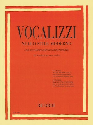 Vocalises in the Modern Style Vocalizzi Nello Stile Moderno Medium Voice