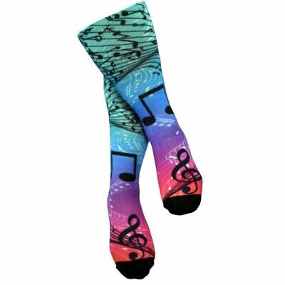 Sublimation Wavy Staff Socks
