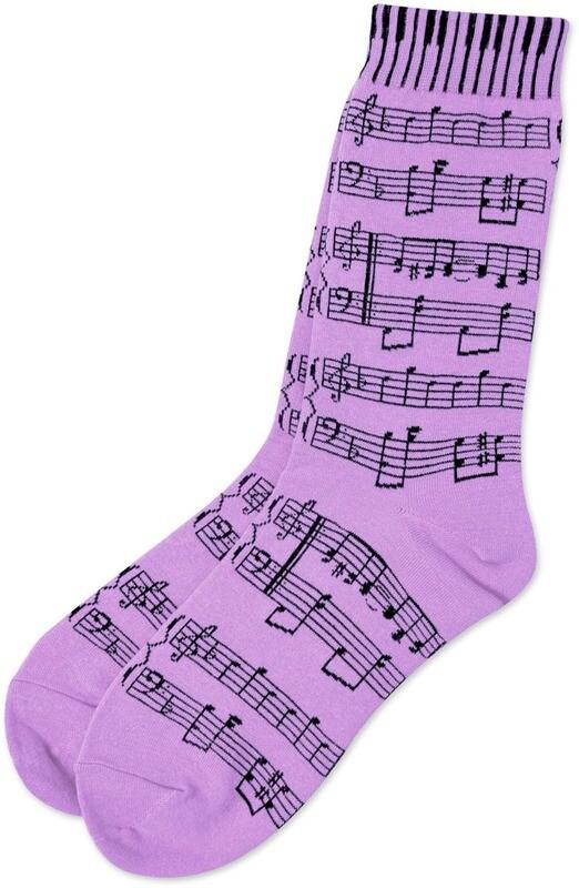 Lavender Sheet Music Socks