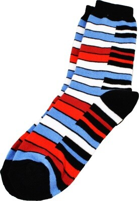 Blue Rainbow Keyboard Socks
