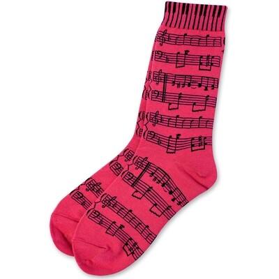 Pink Sheet Music Socks