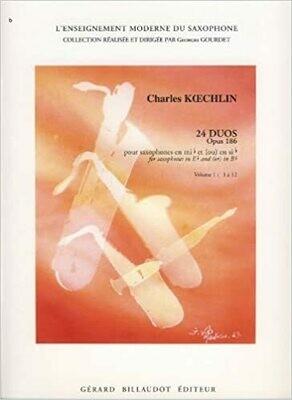 24 Duos, Op. 186 for saxophones (XD 4-5)