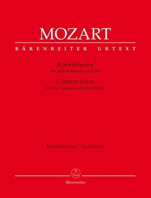 Concert Arias for low Soprano and Contralto