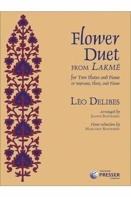 Flower Duet Two Flutes and Piano or Sporano, Flute, and Piano [FD4011]