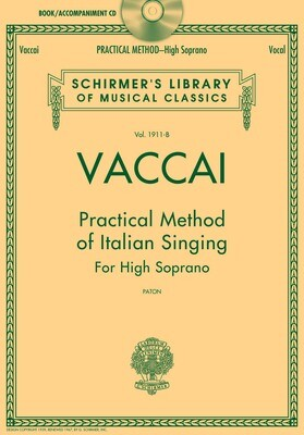 Vaccai: Practical Method of Italian Singing - High Voice with Accompaniment CD