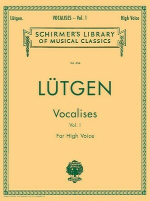 Lutgen: Vocalises (20 Daily Exercises) - High Voice