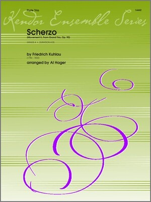 Scherzo, Movement II from Grand Trio, Op. 90 for flute trio [FT5018]