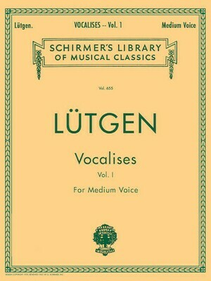 Lutgen: Vocalises (20 Daily Exercises) - Medium voice