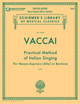 Vaccai: Practical Method of Italian Singing -  Mezzo-Soprano (Alto) or Baritone