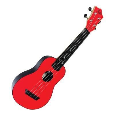 Flight soprano ukulele - red