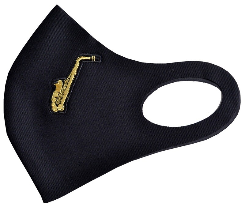 Music mask - black with saxophone