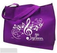 Reusable grocery bag/tote bag - purple
