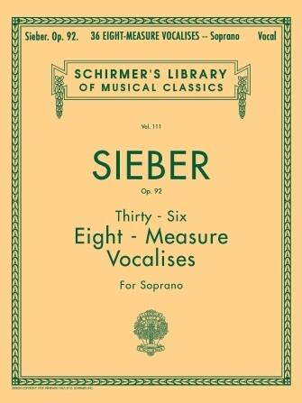 Sieber - 36 Eight-Measure Vocalises, Op. 92