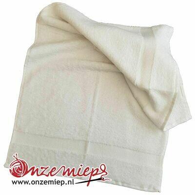 Handdoek met naam - wit - 50 x 100 cm