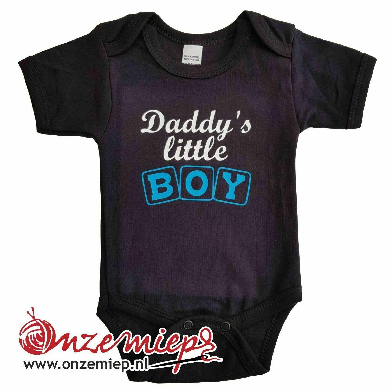 "Zwarte romper met ""Daddy's little boy"""