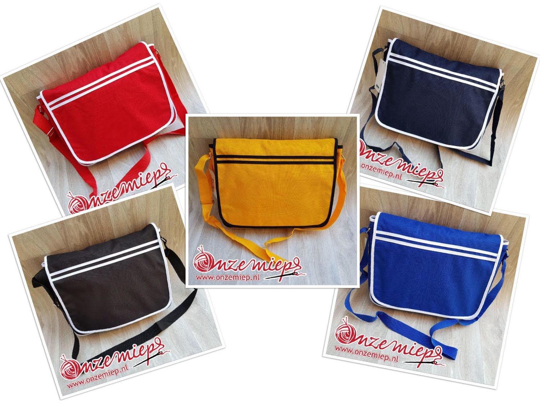 Ontwerp uw eigen stoere retro tas - 5 kleuren