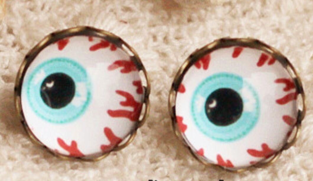 """Oorbellen (stekers) """"ogen"""""""