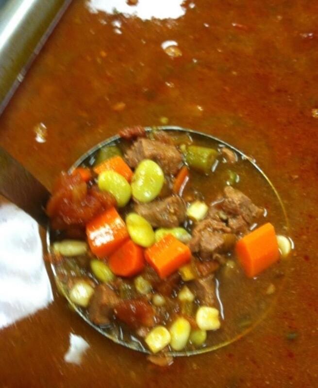 Beef Tenderloin Vegetable Soup Available Saturday