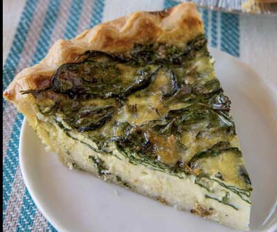 Spinach Feta Quiche Slice