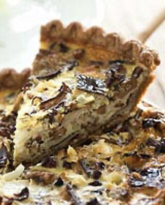 Mushroom and Gruyere Quiche Slice