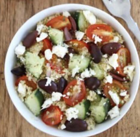 Greek Quinoa Salad  Per Pound Available Friday