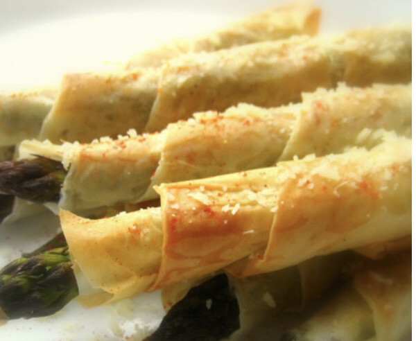Crispy Asparagus Logs In Phyllo By The Dozen