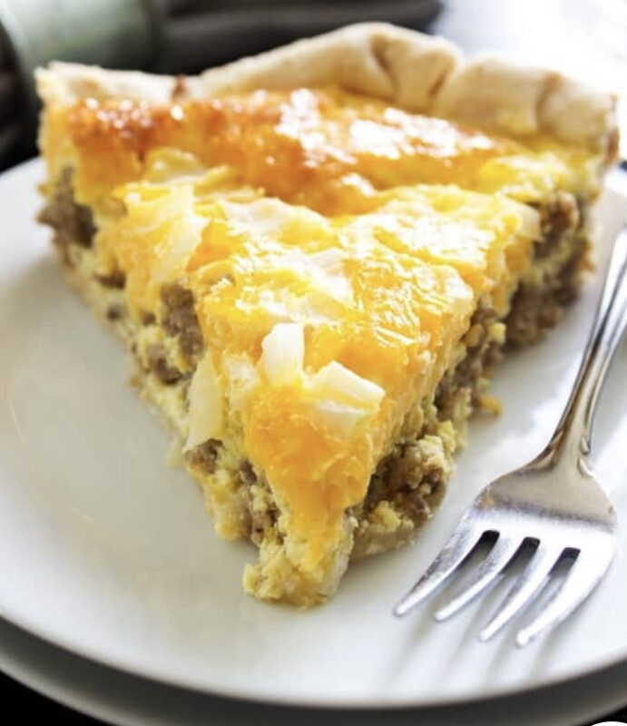 Sausage and Cheddar Quiche Slice