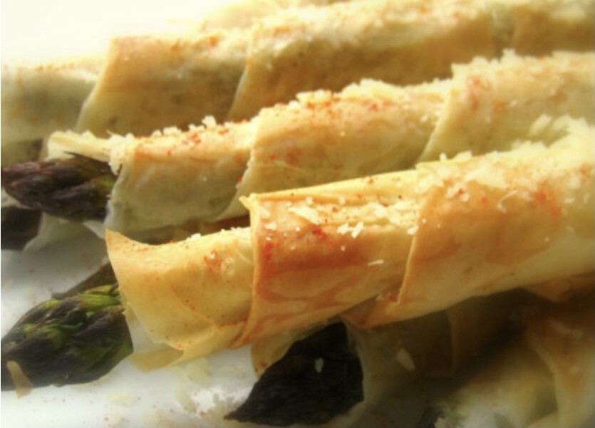 Crispy Asparagus Wrapped In Phyllo Per Dozen