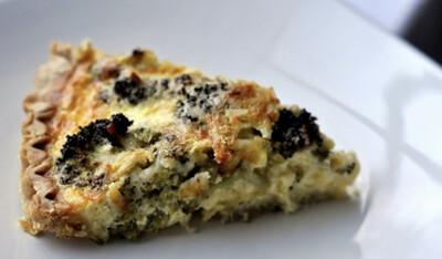 Broccoli and white Cheddar Quiche Slice $5.00