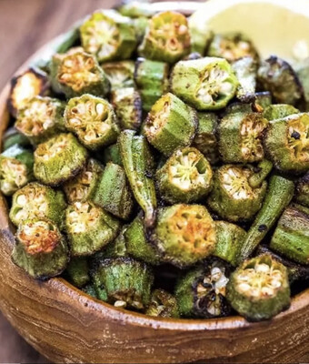 Roasted Okra Per Pound Available Wednesday