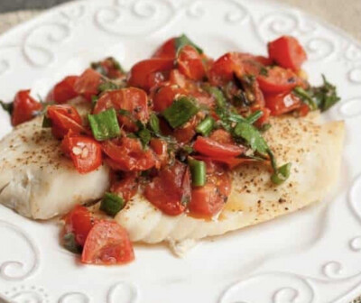 Tomato Basil Cod Per Serving Available  Wednesday
