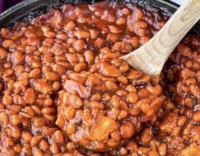 Bourbon Baked Beans Available Thursday