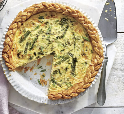 Asparagus and Spring Onion Quiche  Slice $5.00/