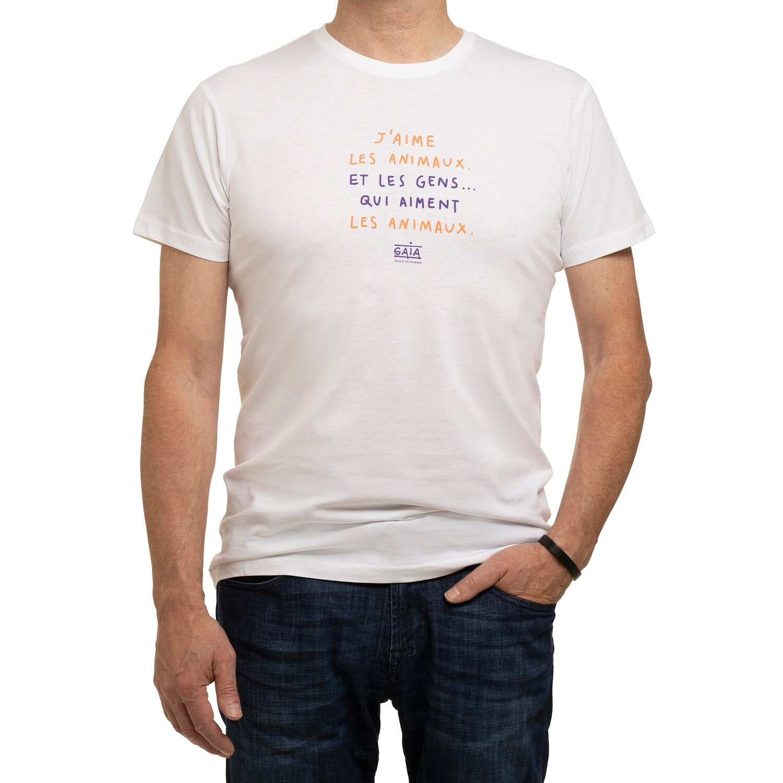 t-shirt 'J'aime les animaux' (man)