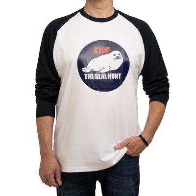 shirt long sleeves 'Stop the seal hunt' (unisex)
